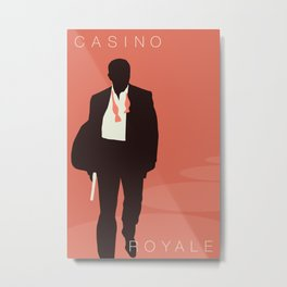 Minimalist Bond: Casino Royale Metal Print