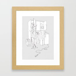 Divided Living Space Framed Art Print