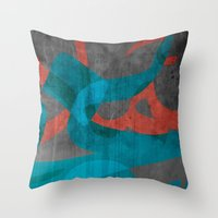 calligraphy Throw Pillows featuring Calligraphy by Imad Hasan