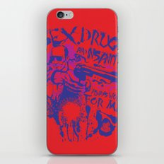 Sex,Drugs and Insanity iPhone & iPod Skin