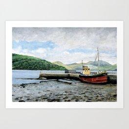 Harbour, Inveraray, Scotland Art Print