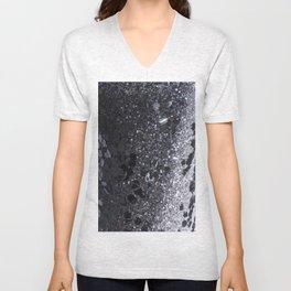 Black and Gray Glitter Bomb Unisex V-Neck