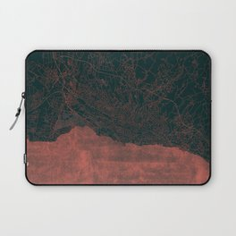 Lausanne Map Red Laptop Sleeve