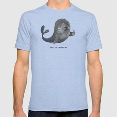 Seal Of Approval Tri-Blue Mens Fitted Tee MEDIUM