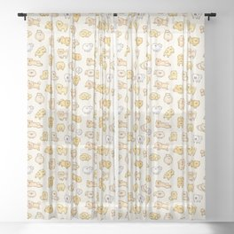 Pom Life Doodle Sheer Curtain