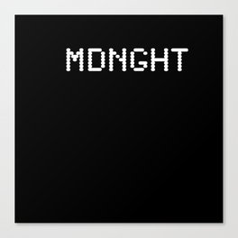 Midnight (BLCK #6) Canvas Print