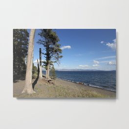 Yellowstone Lake View Metal Print