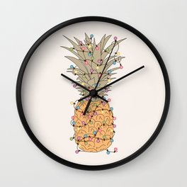 Tropical Lights Wall Clock