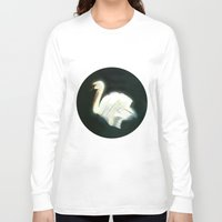 swan Long Sleeve T-shirts featuring Swan by Jet McLeod