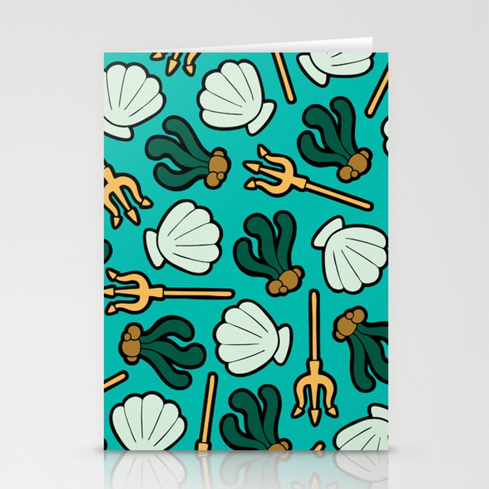Under the Sea Pattern Stationery Cards
