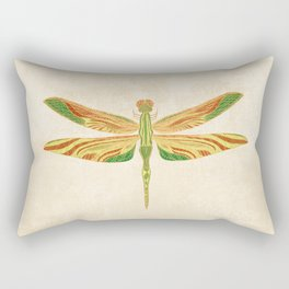 Antique Art Nouveau Dragonfly Rectangular Pillow