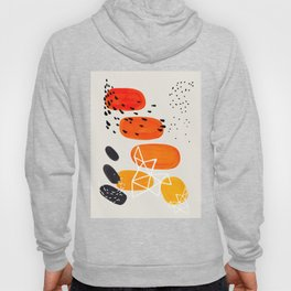 Fun Mid Century Modern Abstract Minimalist Yellow To orange Ombre Stacked Pebbles Hoody