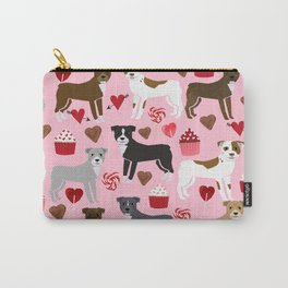 Pitbull dog breed love valentines day cupcakes hearts dog breeds pibble gifts Carry-All Pouch