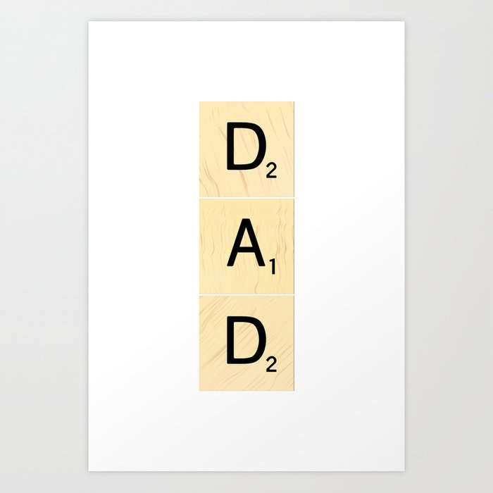 DAD - Vertical Scrabble Tile Art and Accessories for Father\'s Day ...