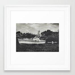 GHOST BOAT Framed Art Print
