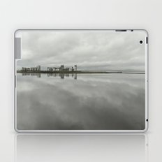 Edinburgh sea side, rainy day Laptop & iPad Skin