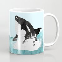 killer whale Mugs featuring The Killer Whale  by Jasmine Smith