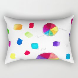 Color Wheel and Paint Swatches Rectangular Pillow