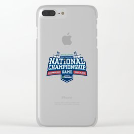 national champions 2018 Clear iPhone Case