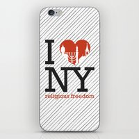religious iPhone & iPod Skins featuring Luv New York Religious Freedom by The Mindful