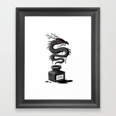 Ink Dragon Framed Art Print