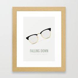 Falling Down - Alternative Movie Poster Framed Art Print
