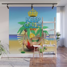 Keep Calm and...Relax on Hammock! Wall Mural