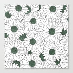Daisy Mint Canvas Print