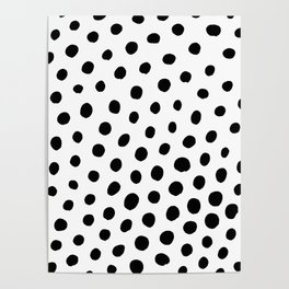 Black and White Dots Poster