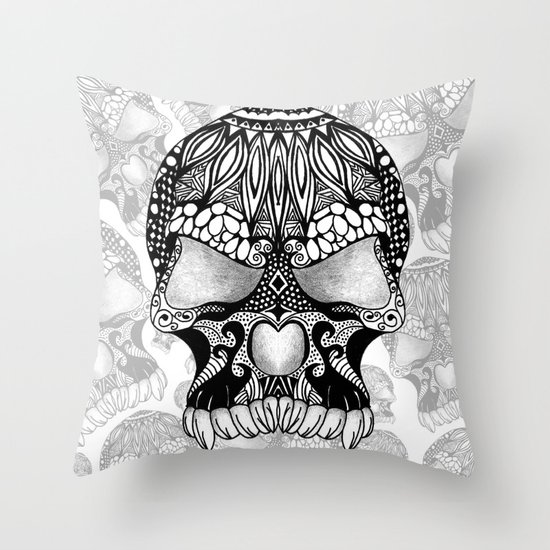 Sugar Skull.  Throw Pillow