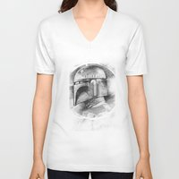 boba fett V-neck T-shirts featuring Boba Fett by The Art of Joshua Davis