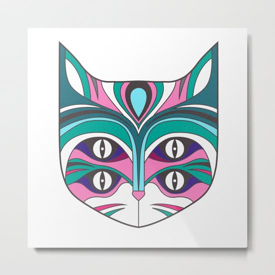 4 eyed cat (2) Metal Print