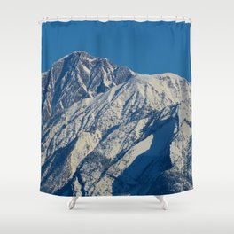 Fresh snow on the mountains of Jasper National Park Shower Curtain