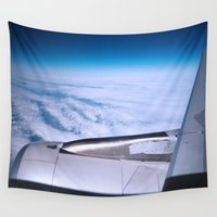 plane Wall Tapestries featuring Plane! by Camille's Images