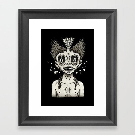 Portrait of a Fiji Merman Framed Art Print