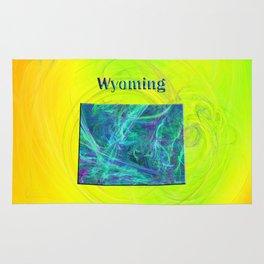 Wyoming Map Rug