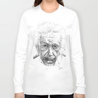 einstein Long Sleeve T-shirts featuring Einstein by Les Joanneries & Jacques Lajeunesse