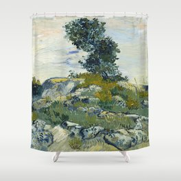 The Rocks by Vincent Van Gogh Shower Curtain
