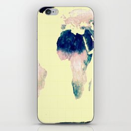 World Map : Gall Peters Pastel iPhone Skin