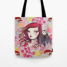 Red Owl Gal Tote Bag