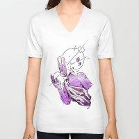 rare V-neck T-shirts featuring ▩ #RARE# CLOUDS ▩ by Pol Clarissou