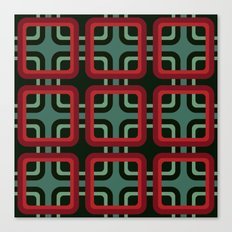 1970s pattern #1 (red & turquoise) Canvas Print