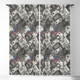 Video Game Controllers in True Colors Blackout Curtain