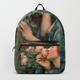John William Waterhouse The Soul Of The Rose Backpack