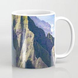Hawaiian Magic: Angels' View Over Coastal Cliffs Coffee Mug
