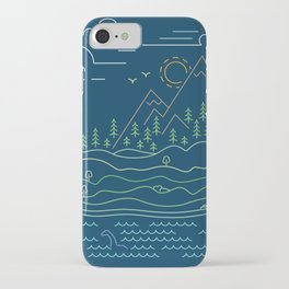 Outdoor solitude - line art iPhone Case