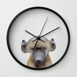 Baby Baboon - Colorful Wall Clock