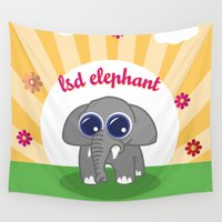lsd Wall Tapestries featuring LSD Elephant by flydesign
