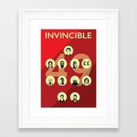 arsenal Framed Art Prints featuring Arsenal Invincibles by Tom Cronin