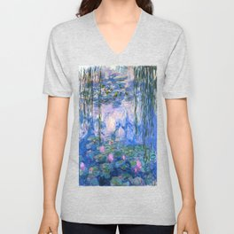 Water Lilies Monet Unisex V-Neck